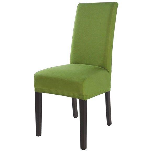 An dieser Stuhlhusse werden Sie viel Freude haben. Sorgen Sie im Speisezimmer im Handumdrehen für ein stilvolles Ambiente und dekorieren Sie Ihre Stühle mit diesem Überzug, der in Grün gehalten ist. Die hochwertige Verarbeitung aus Baumwolle und Elastan sorgt für eine kinderleichte Handhabung und steht für höchste Qualität. Für die Oberfläche wurde Jersey verwendet. Ein hübsches Accessoire für Ihre vier Wände!