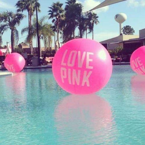 love pink float ball