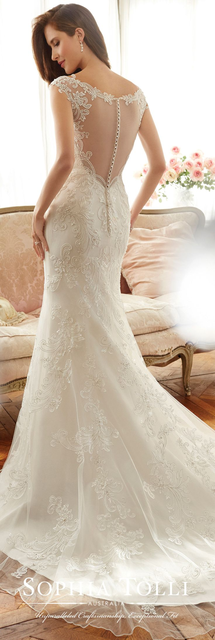 Stunning Sophia Tolli Spring Wedding Gown Collection Style No Y Mimi lace trumpet