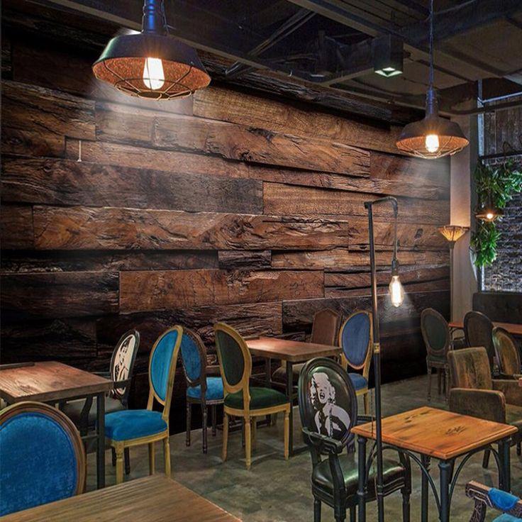 Wood Panels Wood Grain 3D Wallpaper For Walls