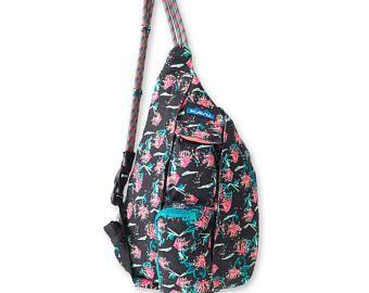 Monogrammed Kavu NEW Mini Rope Bag - Sparklers   Monogram Crossbody Bag   Teens   kids   Outdoors Satchel   Gift for Her   Sling Bag