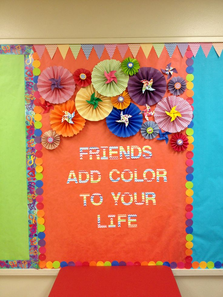colorful bulletin board..neon and black...Jesus Adds color to your life.