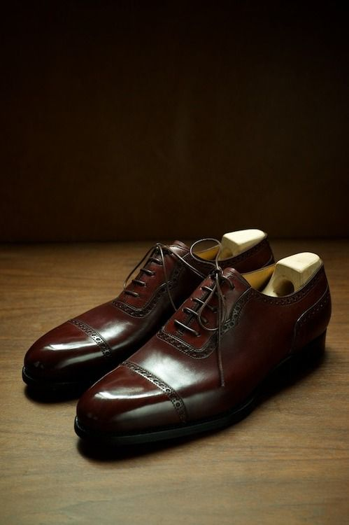 WZ is killin it. ethandesu: The 596 Cap Toe Adelaide in Fun 611 Custom Made for WZ Saint Crispin's at The Armoury