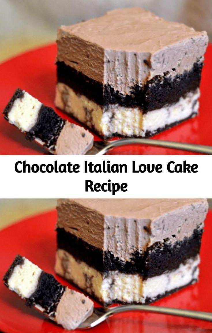 Dieser italienische Schokoladenkuchen ist das perfekte Dessert für die Nachspeise! Es schmeckt nach …