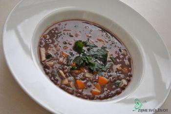 fazolová polévka z adzuki 2