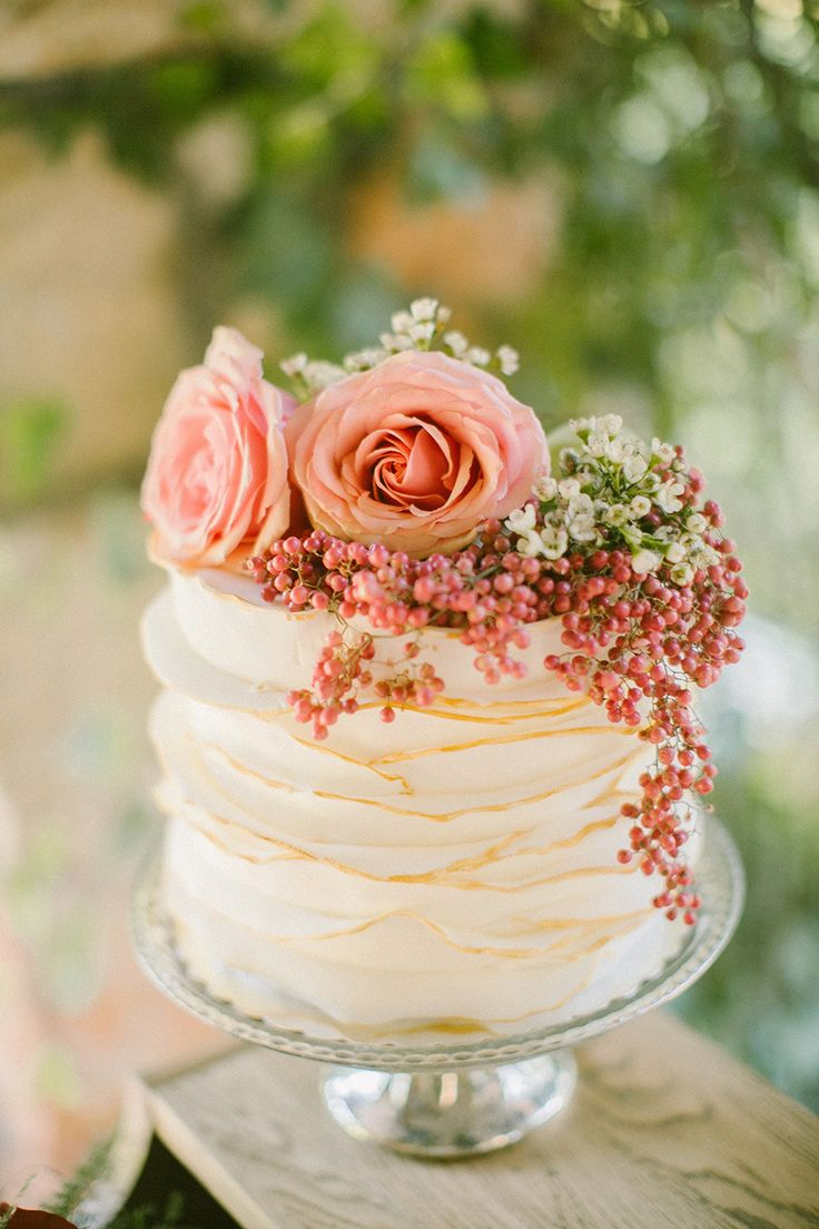 Let them eat cake rustic wedding chic - Boho Chic Winter Wedding Inspiration Rustic Wedding Cakesbeautiful