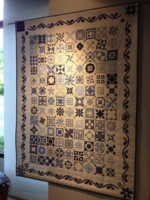 Dear Jane by Kristina Jonsson She chose to omit the triangles and did an applique border