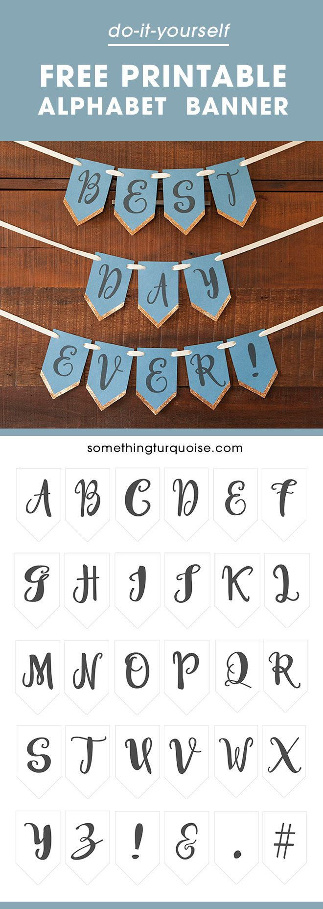 17 best ideas about banner template banners check out this super cute printable alphabet banner glitter