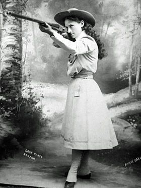 Annie Oakley was the best shooter you could find on the frontier. She was born Phoebe Ann Mosey...
