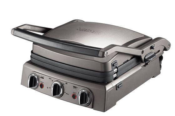 GR50E - Cuisinart A taste of perfection J'ai ce grill pro avec une plaque plancha et plaques à gaufres