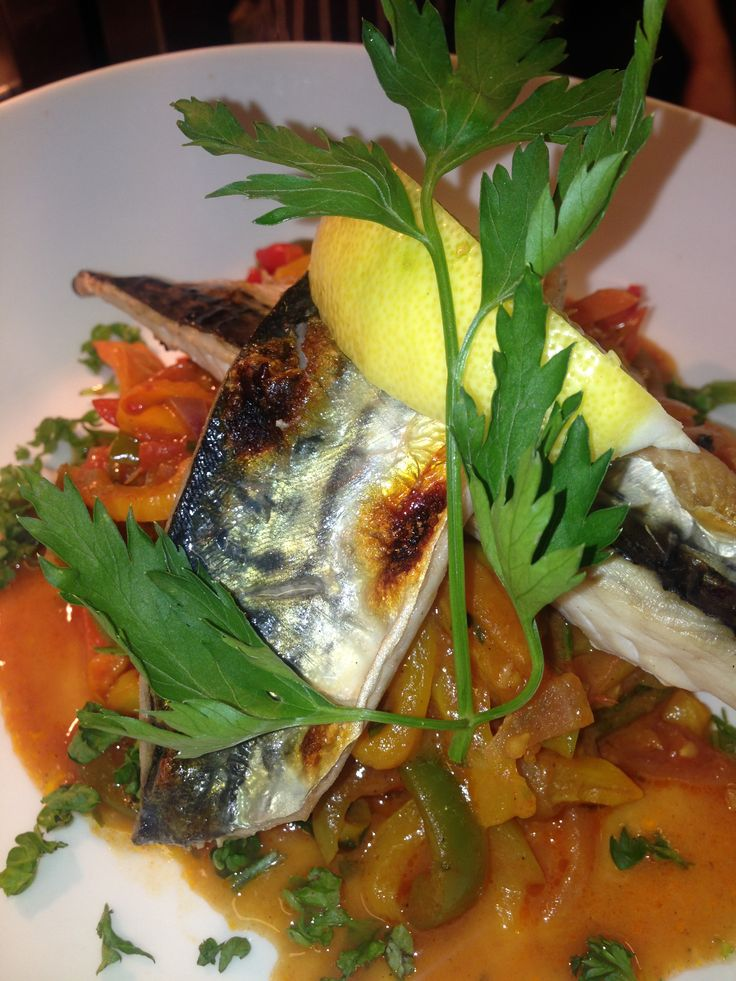 The Beach Deck Special.  Grilled local mackerel w/ peperonata @ £9.95   Come check it out