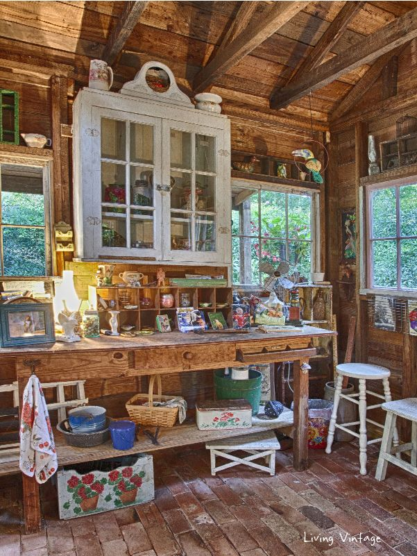 jennys adorably decorated garden shed living vintage