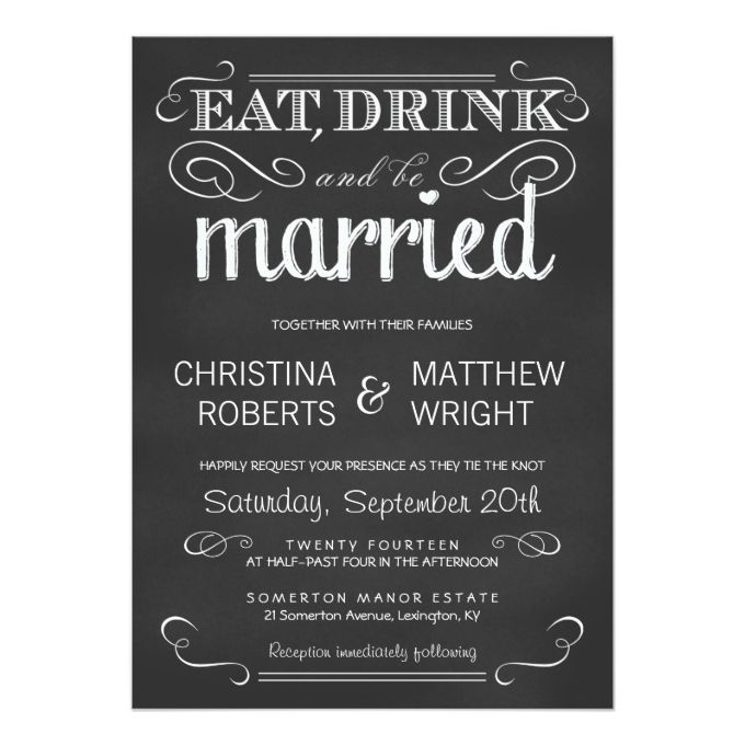 4686 best chalkboard wedding invitations images on pinterest eat drink be married chalkboard wedding invitation filmwisefo Choice Image