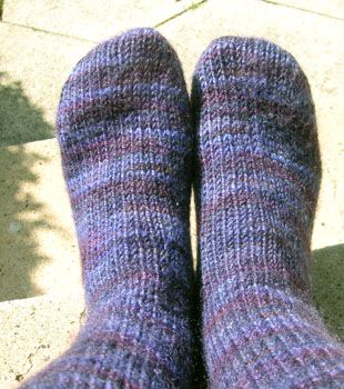 How to Knit for Beginners | To get you started, here is my very first pair of socks.