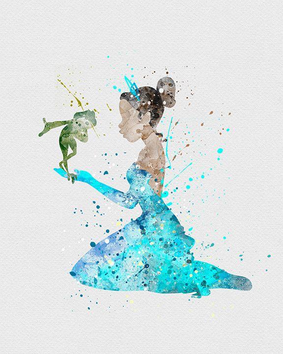 Princess Tiana Watercolor Art