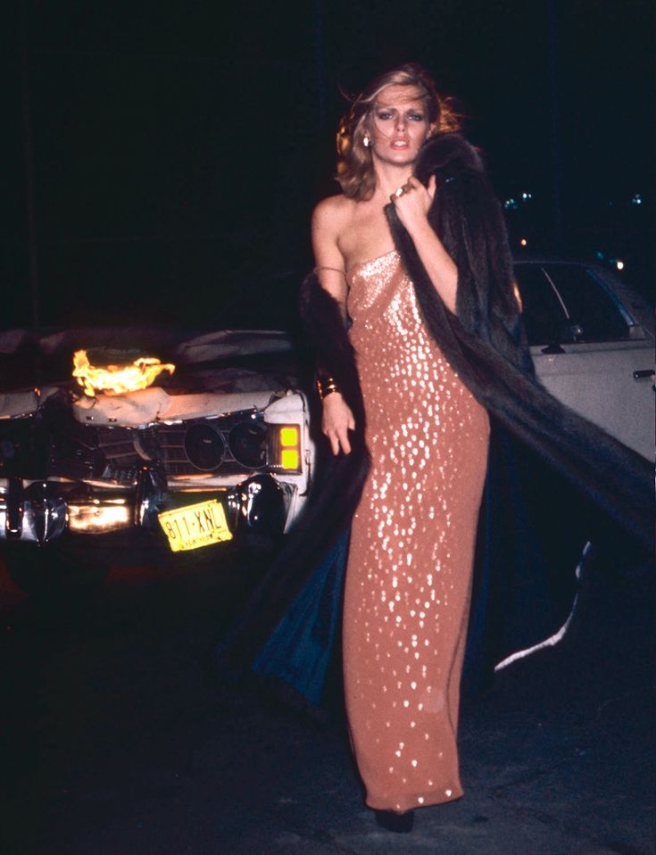 Икона стиля: Патти Хансен Nightlife with your Dior, 1976. Фото Криса фон Вангенхайма.