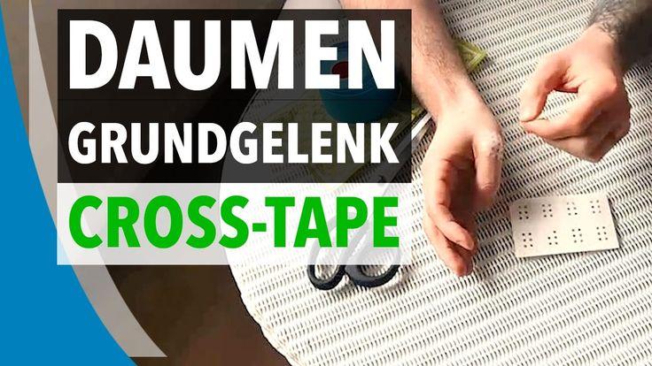 DAUMENGRUNDGELENK TAPEN - Kinesiologie Tape Anleitung mit Cross-Tape für...