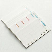 Мода Dokibook ноутбук 6 отверстий - лист дневник A5 и A6 спираль планировщик внутренние страницы еженедельный ежемесячно план соответствующие Filofax(China (Mainland))