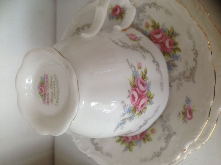 "Vintage Ceramic Royal Albert Trio ""Tranqulity"""