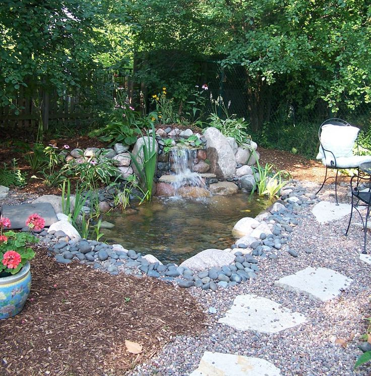 189 best backyard waterfalls images on pinterest garden for Decorative pond fish crossword