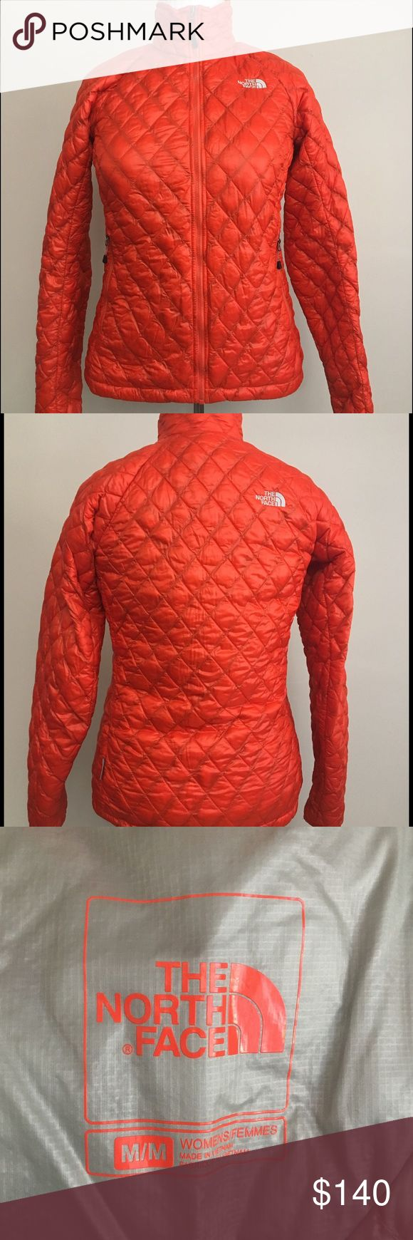 North face thermoball jacket spicy orange size MD Like new worn a few times! Fabulous condition.  Beautiful spicy orange color. No signs of wear! Lightweight great for packing or rolling into a small size and putting into a carry on or purse! North Face Jackets & Coats Utility Jackets