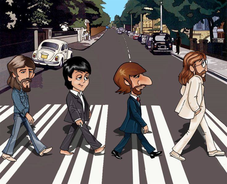 The Beatles: John Lennon, Ringo Starr, Paul McCartney and George Harrison preparing to cross Abbey Road for their legendary album cover. Description from pinterest.com. I searched for this on bing.com/images