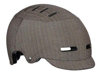 Chic fabric covered, light weight bucket helmet. Lazer Sport CityZen -nice herringbone fabric cover