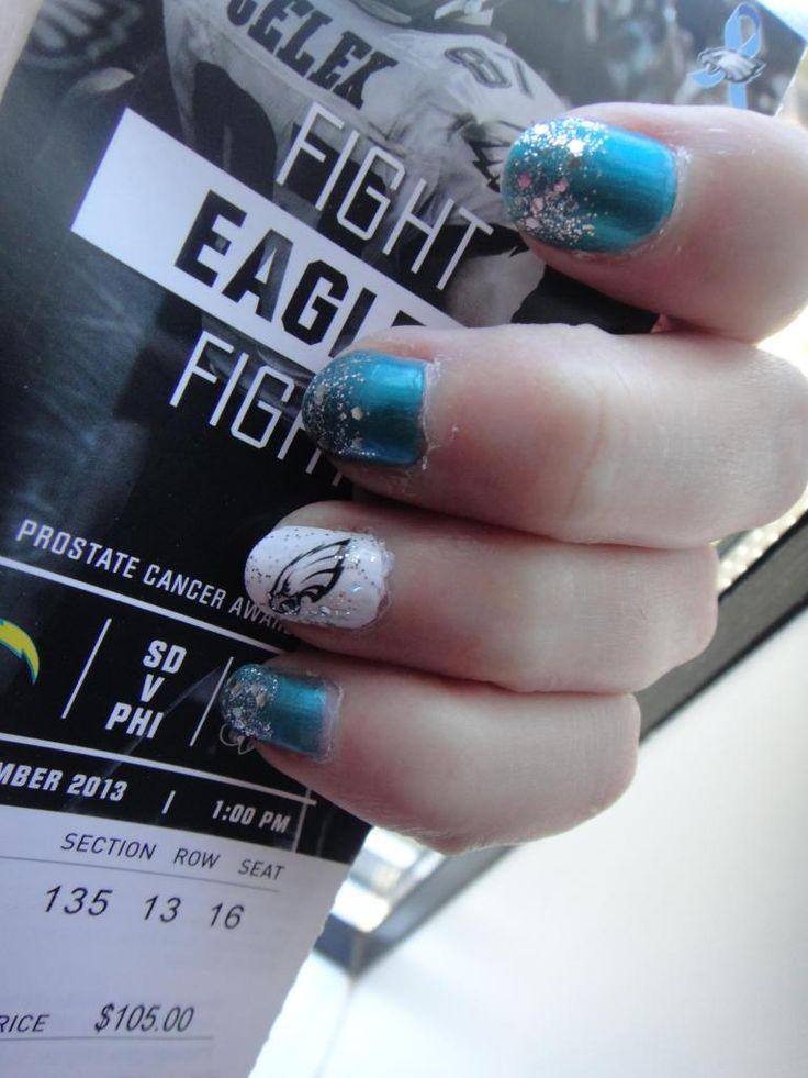 Philadelphia Eagles Football Nails