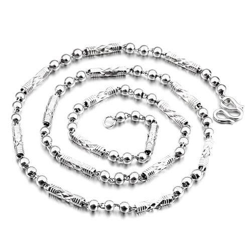 Romacci New Fashion 925 Sterling Silver Ingot Chain Necklace