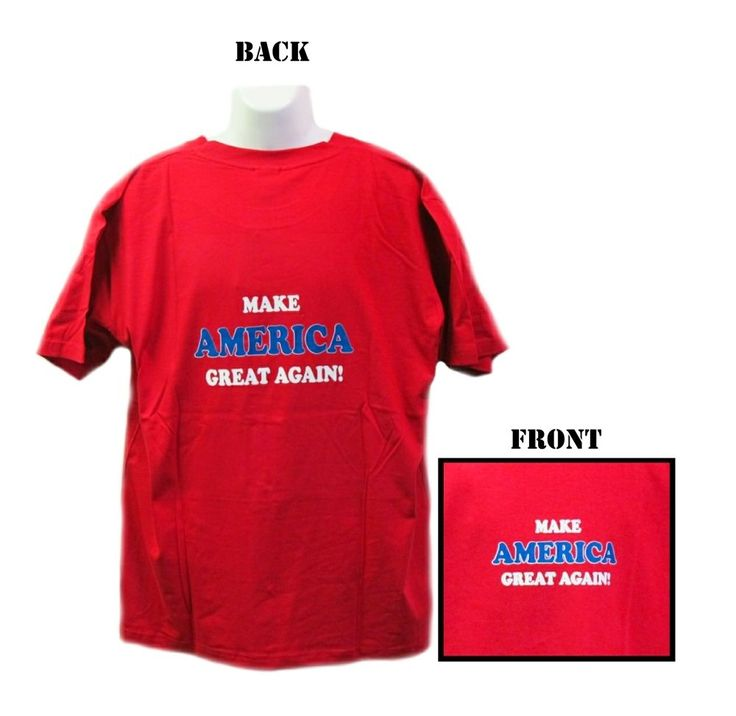 Make America Great Again Red T-Shirt-Donald Trump-USA President #Unbranded #GraphicTee