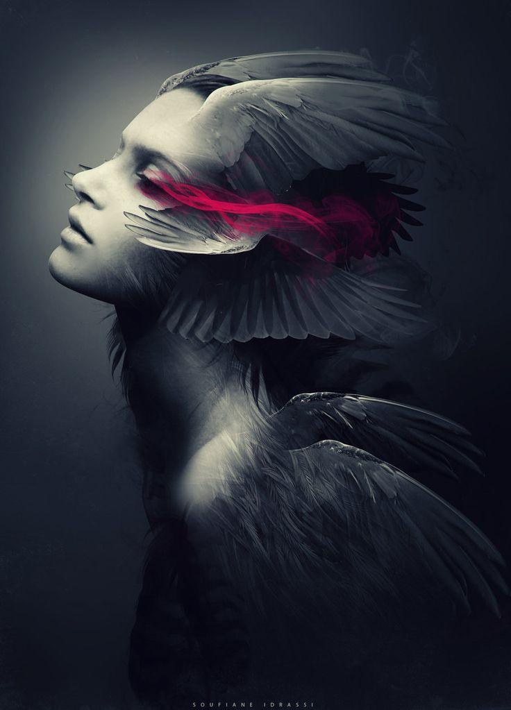 мистические картинки птица и человек полуночи