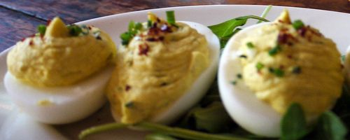 Deviled eggs are SO easy to make and a consistent crowd pleaser!
