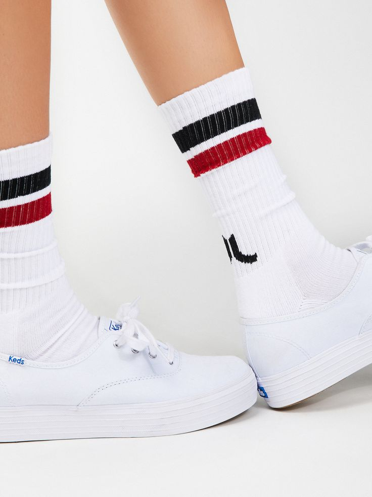 fbee0ef113f3f Zone Out Sport Sock   Athletic-inspired mid-calf socks featuring classic  colored stripe