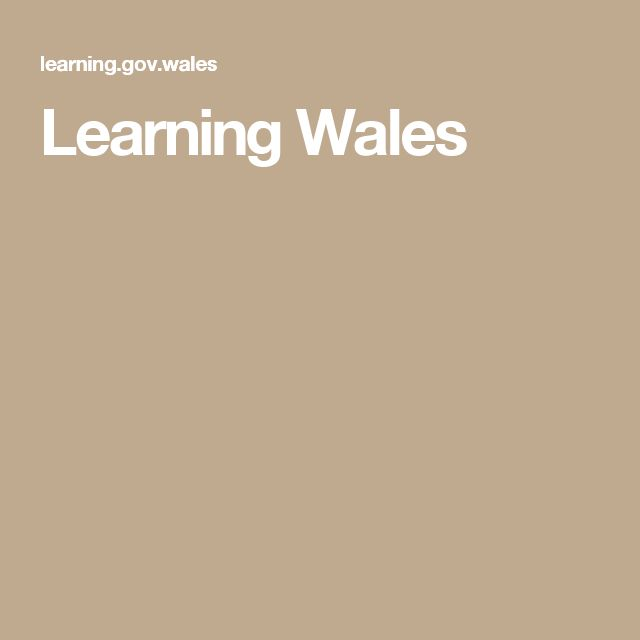 Learning Wales