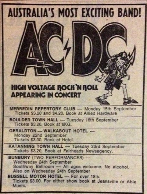 1975/09/15 - AUS, Merredin, Repertory Club | Highway To ACDC : le site francophone sur AC/DC