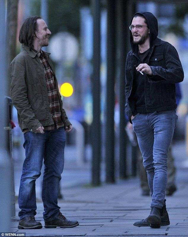 Kit Harington and Ben Crompton hanging out in Belfast. Kit has been seen numerous times in Belfast while Game of Thrones is filming the newest season. IS Jon Snow dead?