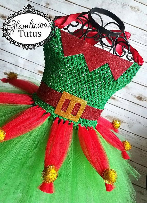 Elf Tutu dress Holiday tutu dress Elf Tutu Christmas tutu