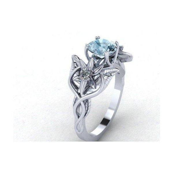 Lord Of The Rings Inspired Evenstar Ring ❤ liked on Polyvore featuring jewelry, rings, 14k white gold jewelry, 14 karat gold ring, 14 karat white gold ring, 14 karat gold jewelry and white gold jewellery