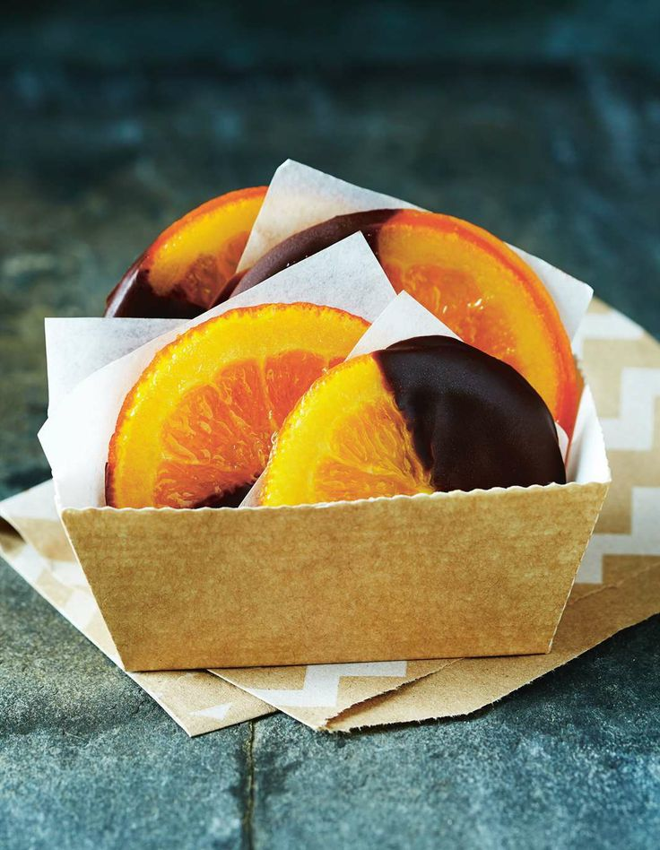 Candied orange dipped in dark chocolate by April Carter | Cooked