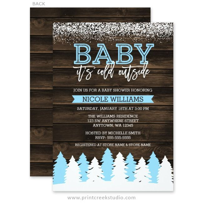 Baby It S Cold Outside Winter Snow Boy Baby Shower
