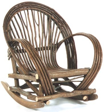 Bent Willow Rocking Chair From The Bent Tree, Clarksville, MO