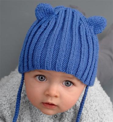 Modèle bonnet bébé bleu - Modèles tricot layette - Phildar