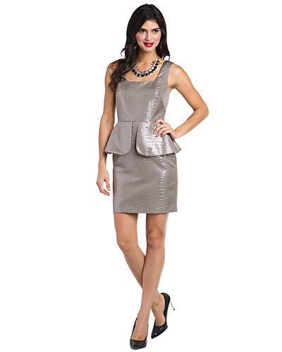Nicole Miller Metallic Peplum Cocktail Dress, 2, $125.00CAD + shipping (Reg. $385.00) http://stylenstuff.ca/products/nicole-miller-metallic-cocktail-dress