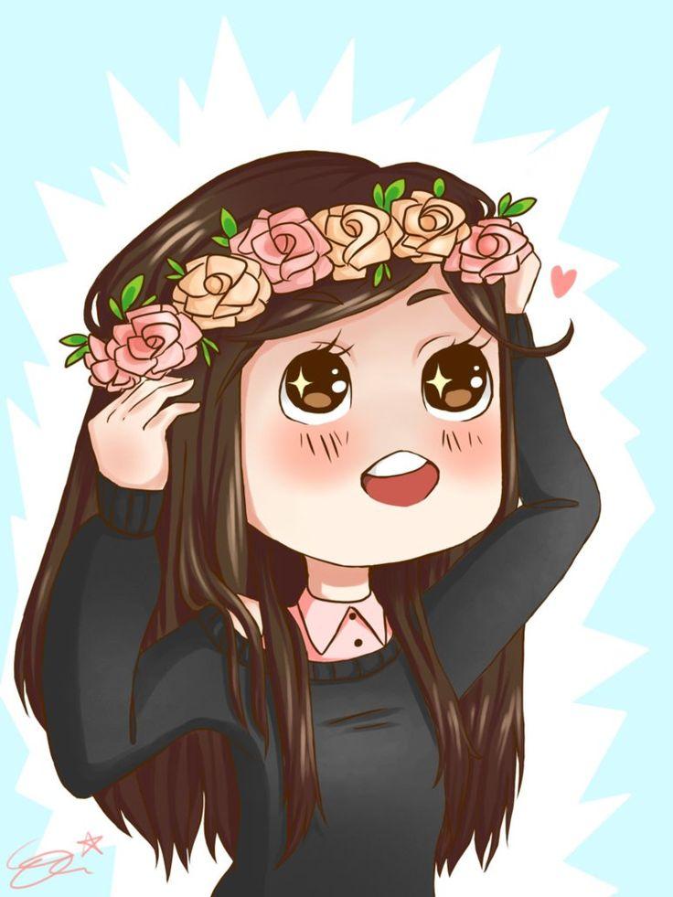 chibi flower crown Anime & Chibi Pinterest Chibi