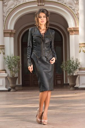 Very elegant and chic jacket that can be worn with a pair of jeans or with a dress. Sculptural  Black Jacket adds a stylish layer to your everyday look. A real must for the season, this chic jacket will be the most versatile item in your wardrobe-by Vero Milano! This chic jacket is designed to be fitted, so buy to your size.