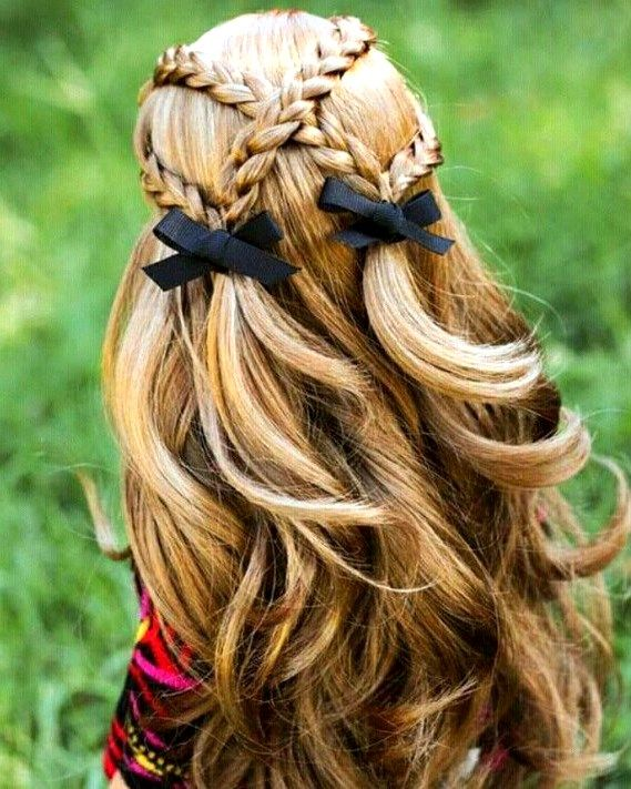 27 Cute And Easy Long Hairstyles For School Pinmagz In 2020 Hair Styles Easy Hairstyles For Long Hair Kids Hairstyles Girls