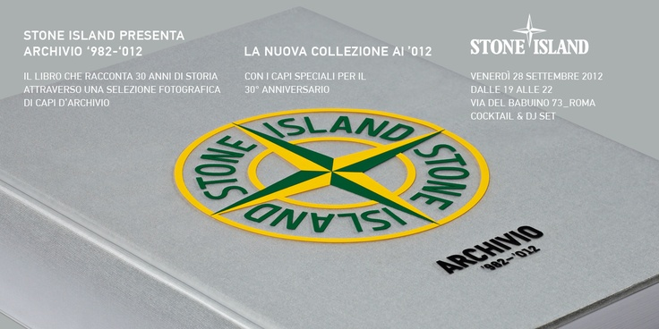 The book will be presented in the Stone Island Store in Rome on Friday 28th September.