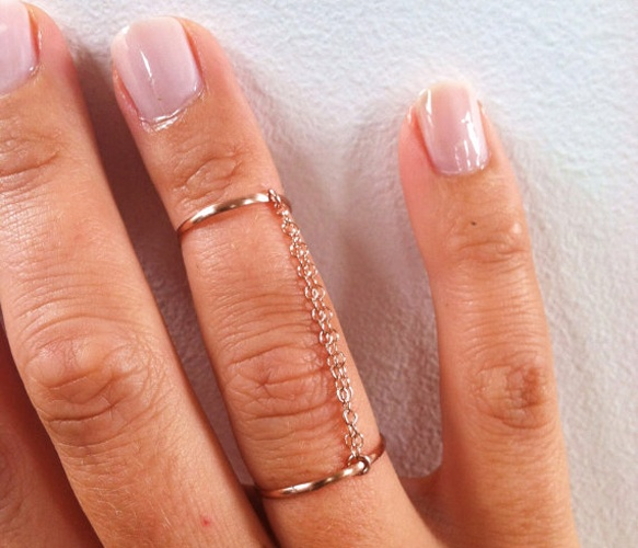Pink Gold Handcuff Ring  by GLAM ROCKS Jewelry: Chain Rings, Rosegold Handcuff, Pink Gold Rings, Jewelry, Jewels, Pink Gold Handcuff Ring, Rose Gold
