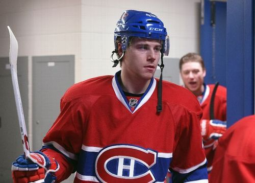 Nathan Beaulieu before his first Stanley Cup Playoffs game