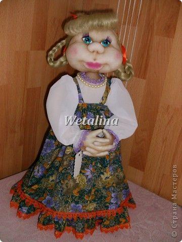 Куклы, Мастер-класс Шитьё: Грелка на чайник и МК каркаса нижней юбки Проволока, Ткань. Фото 1